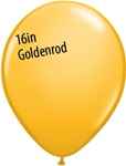 16 inch Qualatex Fashion GOLDENROD Latex Balloon
