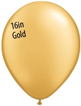 16 inch Qualatex Metallic GOLD Latex Balloon
