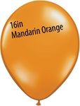 16 inch Qualatex Jewel MANDARIN ORANGE Latex Balloon