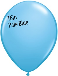 16 inch Qualatex Standard PALE BLUE Latex Balloon