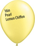16 inch Qualatex Pastel PEARL LEMON CHIFFON Latex Balloon