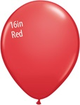 16 inch Qualatex Standard RED Latex Balloon