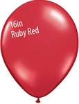 16 inch Qualatex Jewel RUBY RED Latex Balloon
