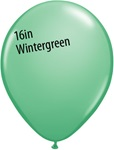 16 inch Qualatex Fashion WINTERGREEN Latex Balloon