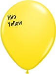 16 inch Qualatex Standard YELLOW Latex Balloon