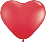 3 foot Qualatex RED Latex Heart Balloons make a big & unusual impression.  Perfect for weddings, anniversaries, engagements, Valentines Day & more!  Fill with 5 inch round or heart balloons to create wonderful effects or drops.