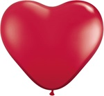 3 foot Qualatex RUBY RED Latex Heart Balloons make a big & unusual impression.  Perfect for weddings, anniversaries, engagements, Valentines Day & more!  Fill with 5 inch round or heart balloons to create wonderful effects or drops.