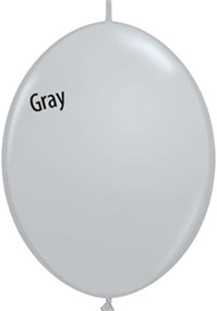 12 inch GRAY Qualatex QUICK LINK
