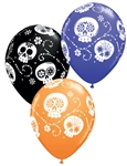 11 inch Sugar Skull Latex Balloons