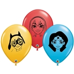 5 inch Qualatex DC Super Hero Girls Faces Assortment