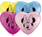 6 inch Qualatex Minnie Mouse Face on Hearts