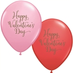 Qualatex Happy Valentine's Day Script