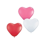 6in Qualatex Heart LOVE Assortment, Price Per Bag of 100