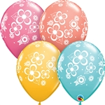 11 inch Qualatex Floral Blossoms Assortment latex balloon