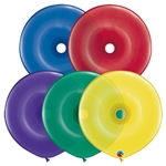 16 inch GEO Donut Qualatex RADIANT JEWEL Assortment, Price Per Bag of 50