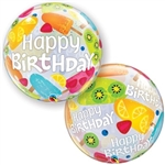 22 inch BUBBLES Happy Birthday Frozen Treats