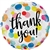 18 inch THANK YOU Dots Upon Dots foil balloon