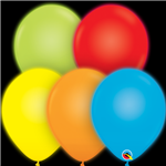 11 inch Qualatex Q-Lite Assorted Color Latex Balloons