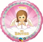 18 inch Mi Bautizo Angel GIRL Foil Balloon