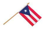 4 x 6 inch PUERTO RICO Cloth Flag w/stick