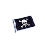 4in x 6in Pirate Flag with Skull and Cross Bones
