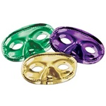 Metallic Half Mask GOLD, GREEN, PURPLE