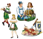 16in Oktoberfest Cutouts, Price Per Package of 4