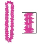 Hot Pink Silk Flower Leis