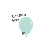 5 inch Pastel Matte GREEN Latex Balloon