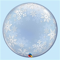 24 inch DECO BUBBLE Frosty Snowflakes