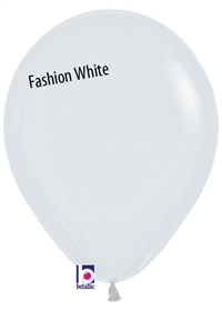 11 inch Betallatex Fashion WHITE Latex Balloon