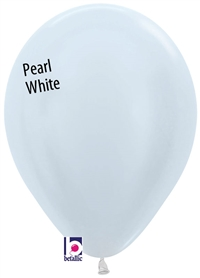 11 inch Betallatex Round PEARL WHITE, Price Per Bag of 100