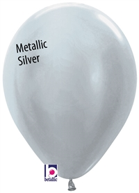 11in Betallatex Round Metallic SILVER