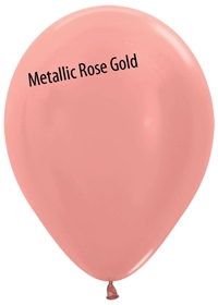 11 inch Betallatex Metallic Rose Gold Latex Balloon
