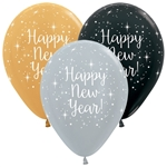 11 inch Betallatex Happy New Year Metallic Assortment