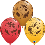 Acorns & Leaves Special Assortment Latex Balloons