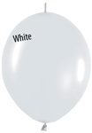 12 inch Link-O-Loon FASHION WHITE, Price Per Bag of 50