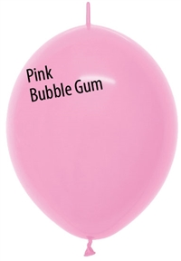 12in Link-O-Loon Fashion PINK BUBBLE GUM
