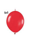 6 inch Link-O-Loon FASHION RED, Price Per Bag of 50
