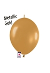 6 inch Link-O-Loon METALLIC GOLD, Price Per Bag of 50