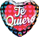 Te Quiero Big Hearts Balloon