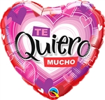 Te Quiero Radiant Hearts Balloon