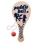 9in Wood Paddle Ball, Price Per DOZEN
