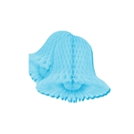 5in Tissue Bell LIGHT BLUE, Price Per Package of 4