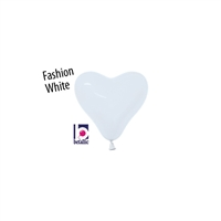 6in Heart Shape WHITE Betallatex