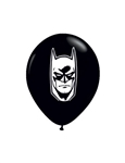 5 inch Qualatex Batman FACE Black