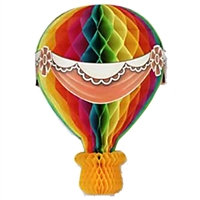13.5in Art-Tissue Hot Air Balloon