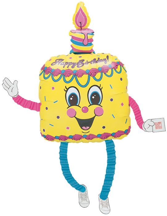 Surprising 38 Inch My Dancing Birthday Cake Airwalker Balloon Personalised Birthday Cards Cominlily Jamesorg