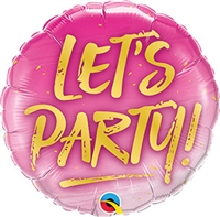 18 inch Let's Party! foil balloon