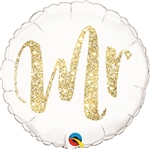 18 inch Mr. Glitter GOLD Foil Balloon
